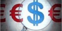 la lupa puesta en el dólar